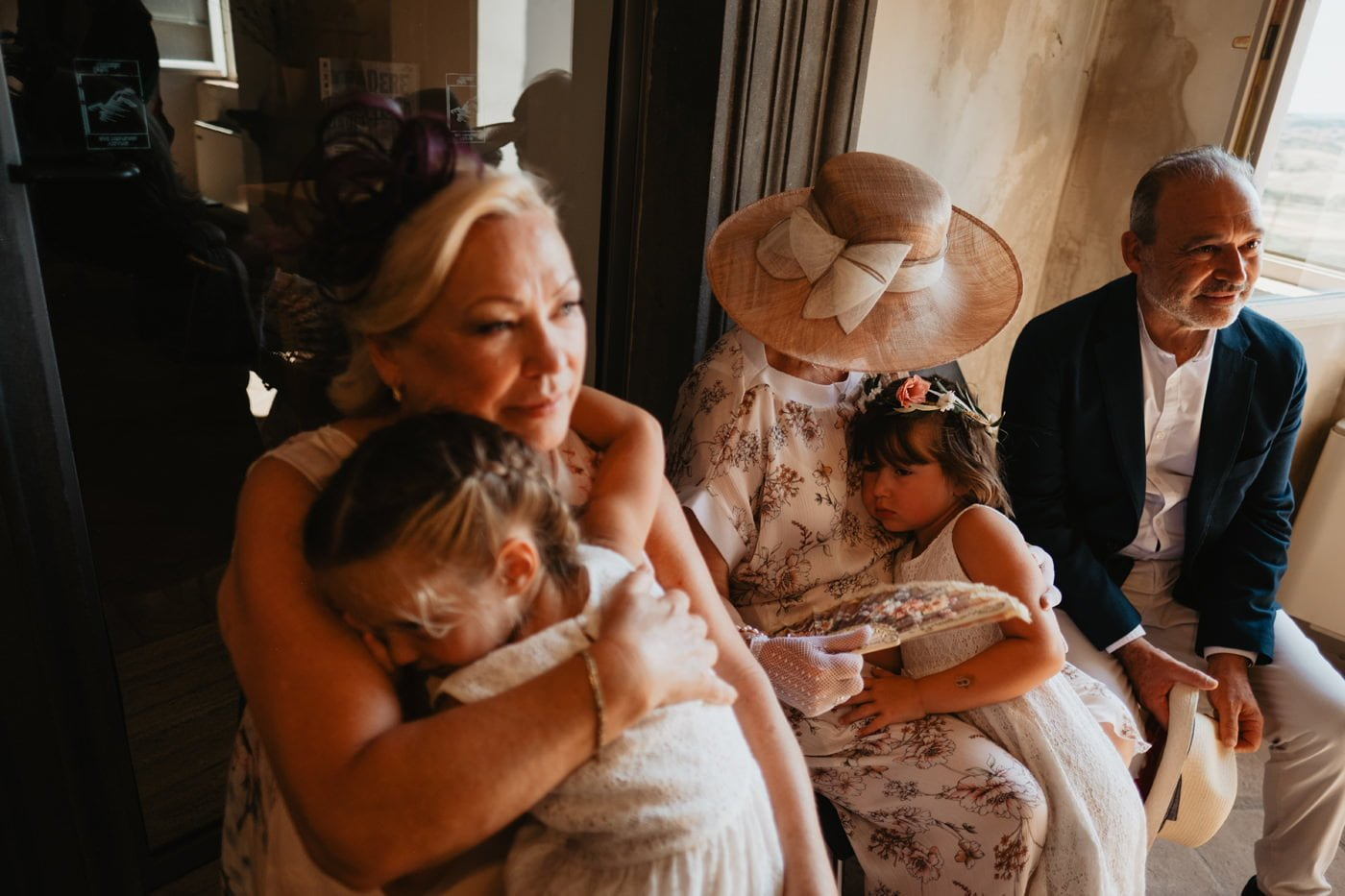 emotional moment during wedding day in Tuscany