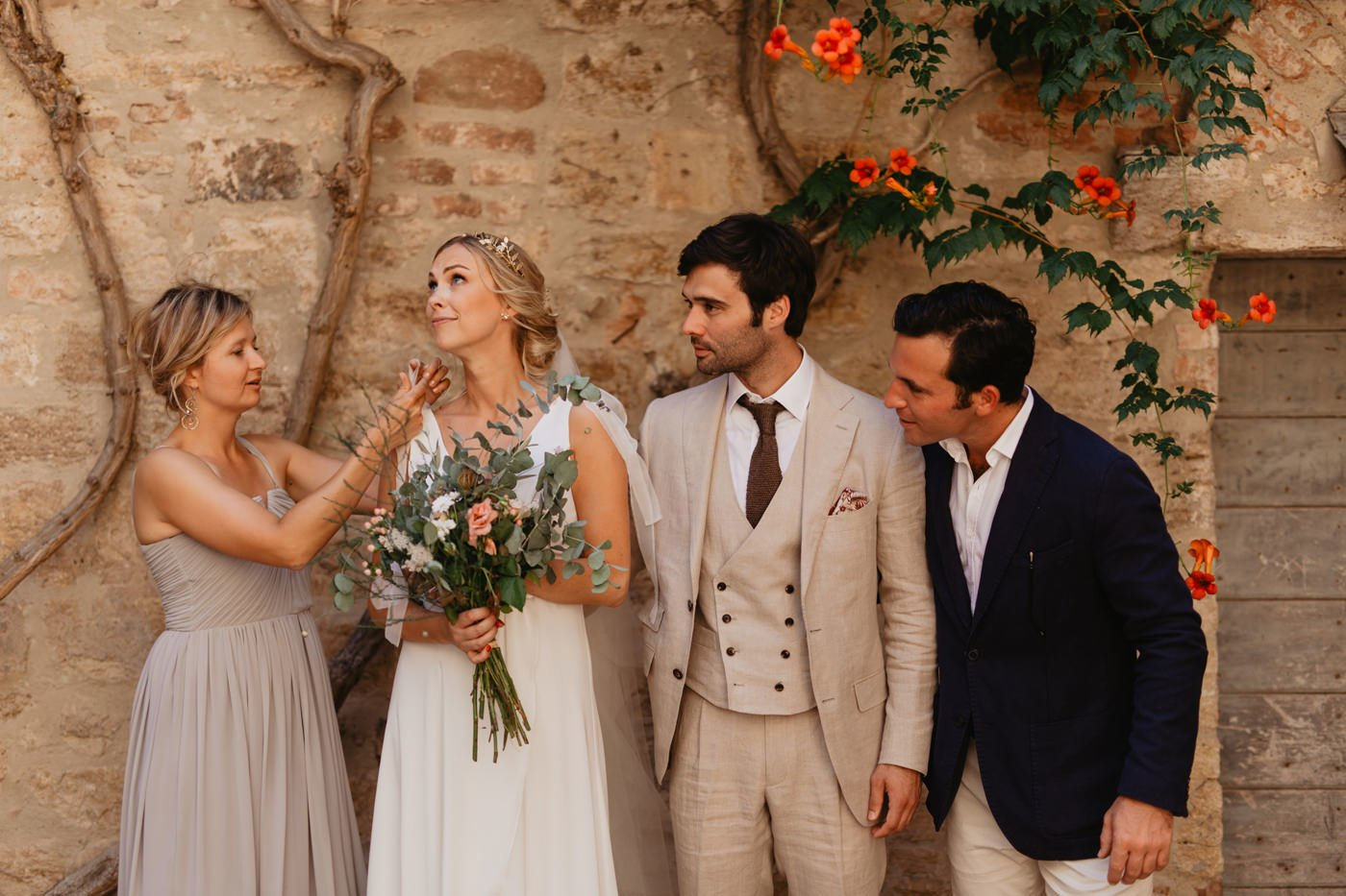 italian medieval town elopement wedding in Tuscany