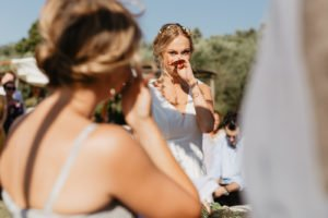 moved bride during tuscan wedding ceremony