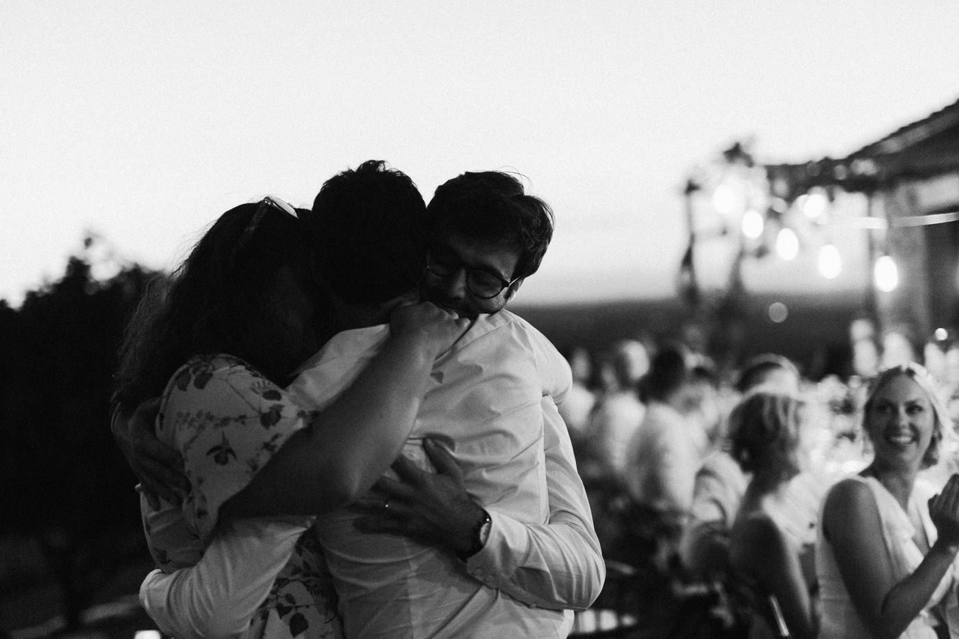 an emotional moment at a wedding in Tuscany